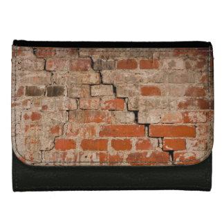 Cracked brick wall wallets