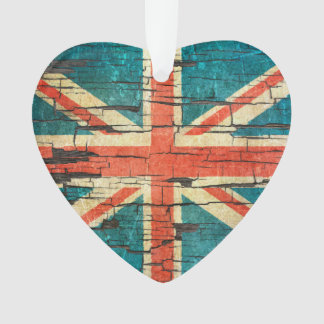 Cracked British Flag Peeling Paint Effect
