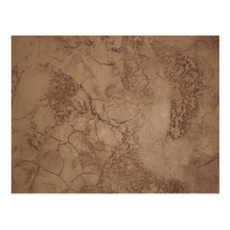 Cracked Brown Suede Pattern Postcard