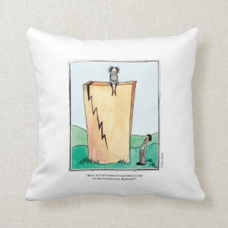 CRACKED cartoon by Ellen Elliott Throw Pillow