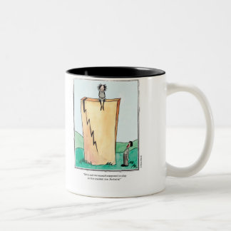 CRACKED cartoon by Ellen Elliott Two-Tone Coffee Mug
