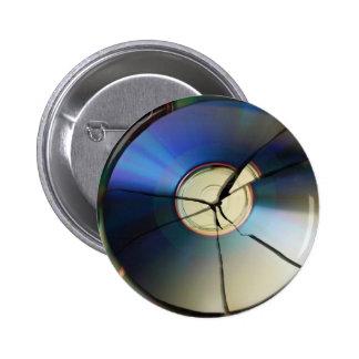 Cracked CD 2 Inch Round Button