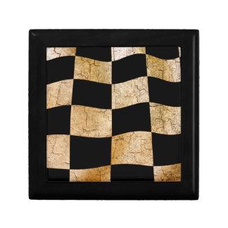 Cracked chequered flag keepsake box
