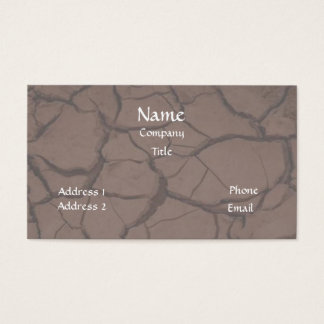 Cracked Clay/Dirt Business Card