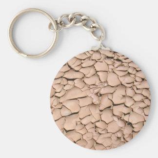 Cracked clay earth texture keychain