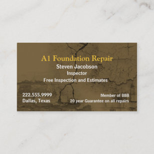 Plaster business cards zazzle cracked concret and plaster business card flashek Choice Image