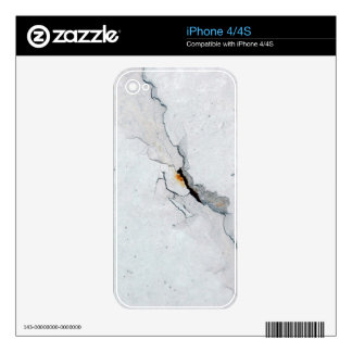 Cracked concrete decal for the iPhone 4S