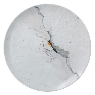 Cracked concrete plate