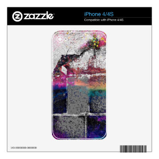 Cracked Concrete Series Decals For iPhone 4