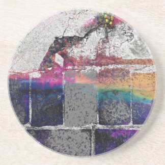 Cracked Concrete Series Sandstone Coaster