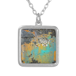 Cracked Concrete Series Square Pendant Necklace