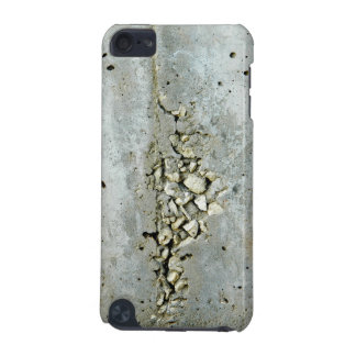 Cracked concrete wall with small stones iPod touch (5th generation) cover