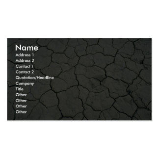 Cracked desert mud Double-Sided standard business cards (Pack of 100)