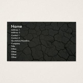 Cracked desert mud business card
