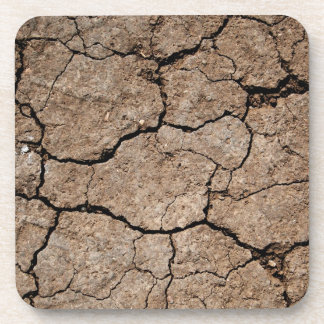 Cracked Dried Mud Beverage Coaster
