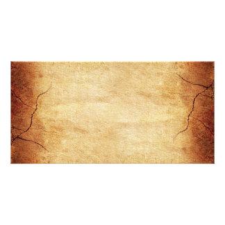 CRACKED EARTH CLAY TEXTURES ABSTRACT RANDOM TEMPLA CARD