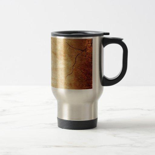 CRACKED EARTH CLAY TEXTURES ABSTRACT RANDOM TEMPLA COFFEE MUGS