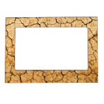 Cracked Earth Photo Frame Magnet