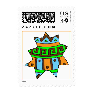 Cracked Easter Egg Piece Postage Stamps