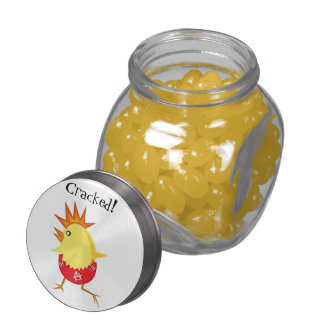 Cracked! Easter Punk Rock Chicken Glass Jars