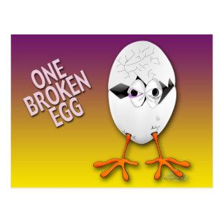 cracked egg 2 postcard