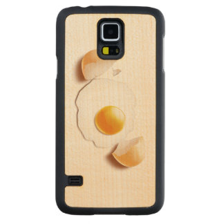 Cracked Egg Carved Maple Galaxy S5 Case