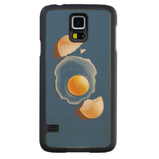 Cracked Egg Carved Maple Galaxy S5 Slim Case