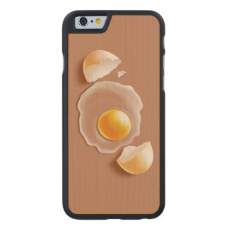 Cracked Egg Carved Maple iPhone 6 Case