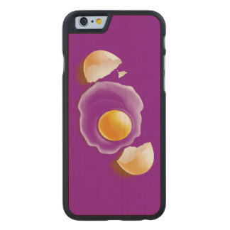 Cracked Egg Carved Maple iPhone 6 Slim Case