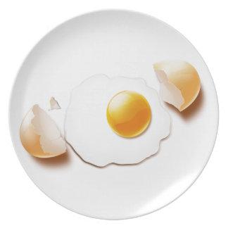 Cracked Egg Melamine Plate
