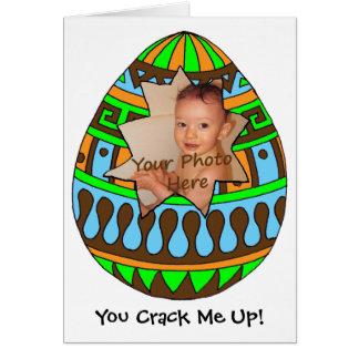 Cracked Egg Photo Easter Card