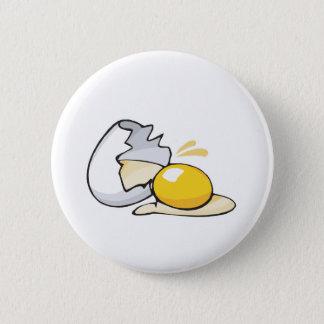 cracked egg pinback button