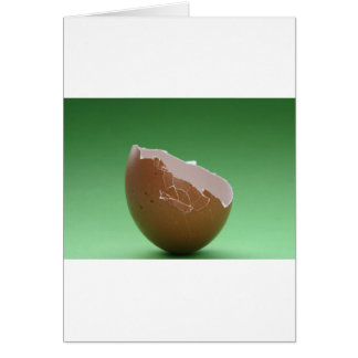 Cracked Egg Shell Card