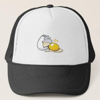 cracked egg trucker hat