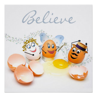 Cracked Eggs Concept/Believe - Fun Poster