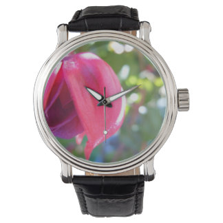 Cracked Fuschia Wrist Watch