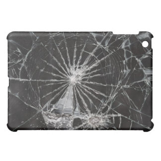 Cracked Glass Broken Funny iPad Mini Cases
