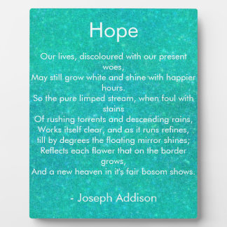 Cracked Glass Hope Poetry Photo Plaque