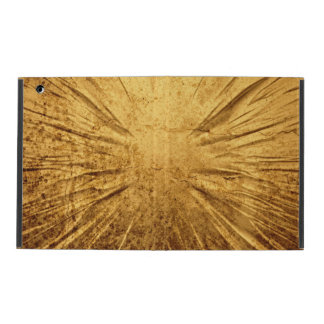 Cracked gold grunge background iPad folio case