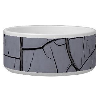 Cracked Gray Pet Bowl