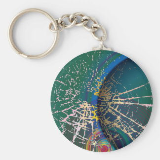 Cracked Green View Keychain