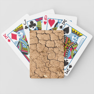 Cracked Ground or Dirt Bicycle Playing Cards