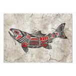 Cracked Haida Spirit Fish Card