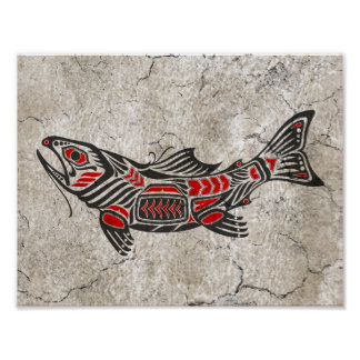 Cracked Haida Spirit Fish Posters