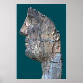 Cracked Head by Mitoraj Boboli Gardens Poster