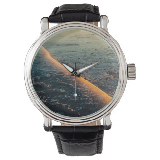 Cracked ice wristwatch