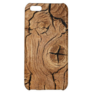Cracked Knotted Hardwood Wood Grain iPhone 5 Case