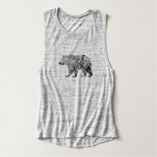 Cracked Leaf Bear Overlay | Muscle Tank