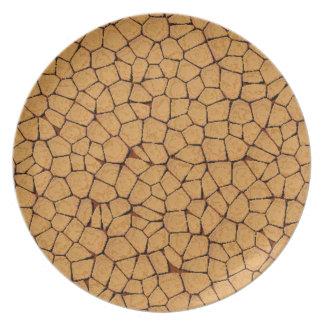 Cracked Look Melamine Plate