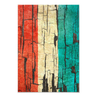 Cracked Luxembourg Flag Peeling Paint Effect Card